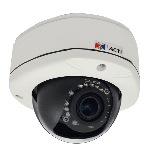 ACTi D82A 3MP Outdoor Dome Camera with D/N, IR and a Vari-focal Lens