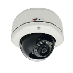 ACTi D71A 1MP Outdoor Dome Camera with D/N, IR and fixed 2.93mm lens.