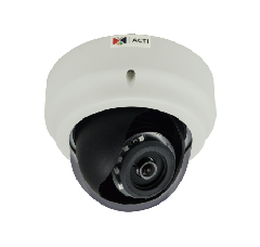 ACTi B53 3MP Indoor Dome with D/N, Adaptive IR, Superior WDR, Fixed lens PoE IP dome camera