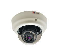 ACTi B65 2MP Indoor Zoom Dome Camera with Basic WDR, DNR and 3x Zoom Lens PoE IP dome camera