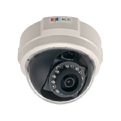 ACTi E57 1.3MP Indoor Dome with D/N, Adaptive IR, Basic WDR, SLLS, Fixed lens PoE IP dome camera