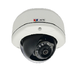 ACTi E75 1.3MP Outdoor Dome with D/N, Adaptive IR, Basic WDR, SLLS, Fixed lens PoE IP dome camera