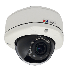ACTi E85A 1MP Outdoor Dome Camera with D/N, IR, Superior WDR and Vari-focal Lens