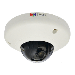 ACTi E913 3MP Indoor Mini Dome with Superior WDR, Fixed lens PoE IP mini dome camera
