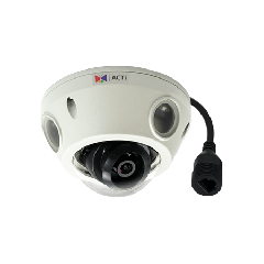 ACTi E924M 5MP Outdoor Mini Dome with D/N, Adaptive IR, Basic WDR, M12 connector, Fixed lens PoE IP mini dome camera
