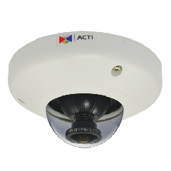 ACTi E96 5MP Indoor Mini Fisheye Dome Camera with Basic WDR and Fixed Lens