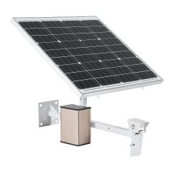 60W Solar Power Panel with 40AH lithium-ion battery for 4G IP cameras by mobilecctv