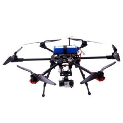 Hexacopter X700 aircraft, aluminiun case, 7 channel WFT07 remote control, 4S 10000mAh Lipo battery, battery alarm, & Imax B6 charger