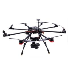 Octocopter BAT X900 aircraft, aluminium case, 9 channel WFT09 remote control, 1500mAh Lipo batterry, battery alarm, Imax B6 charger, 3 axis brushless gimble & Sony 5r camera